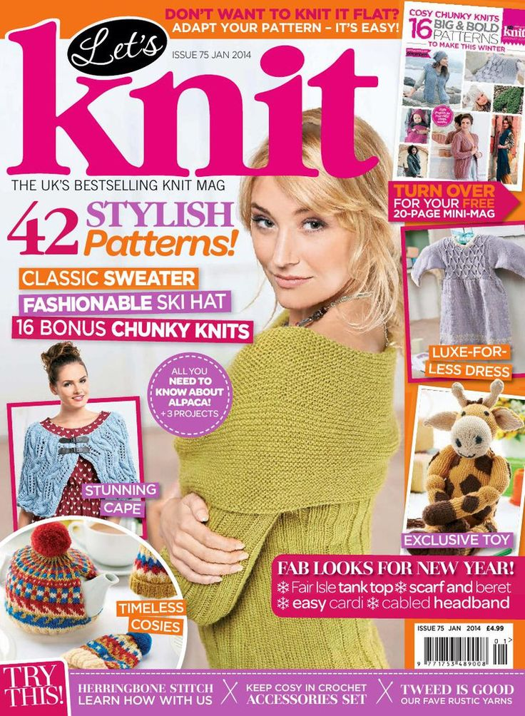 Knitting Magazines Free Patterns : Lets Knit Issue 75 2014 - ???? - ???? knitting magazines ...