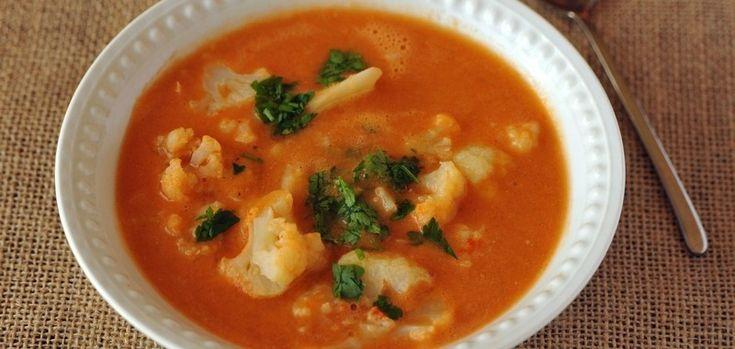 Zupa z soczewicy i kalafior