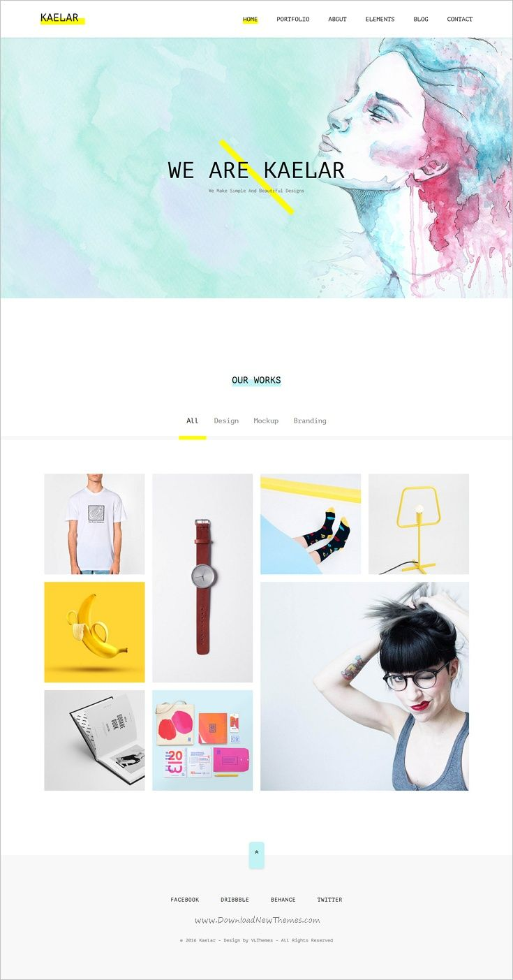 Kaelar is a clean #watercolor design responsive #HTML5 template for modern #portfolio website download now➩ https://themeforest.net/item/kaelar-watercolor-html5-template/18543772?ref=Datasata