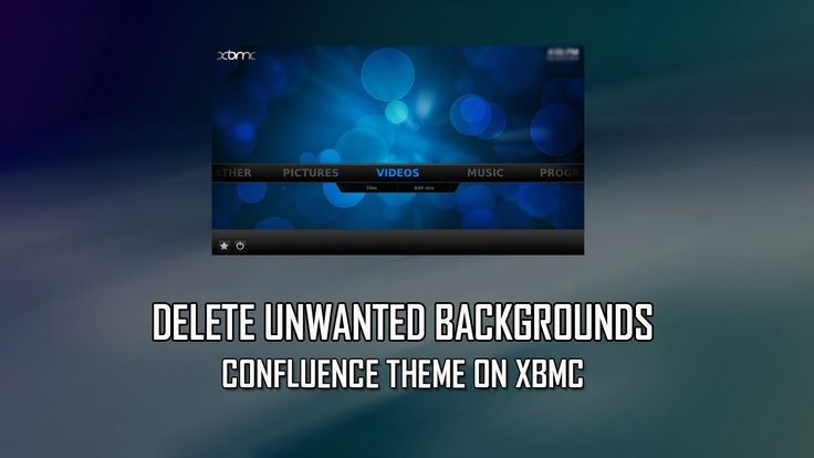 Delete Background From Confluence Theme On XBMC