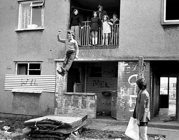 Kirkby liverpool 1972 When kids made the best of what they had. Can you imagine the Health and Safety inspector catching this lot.