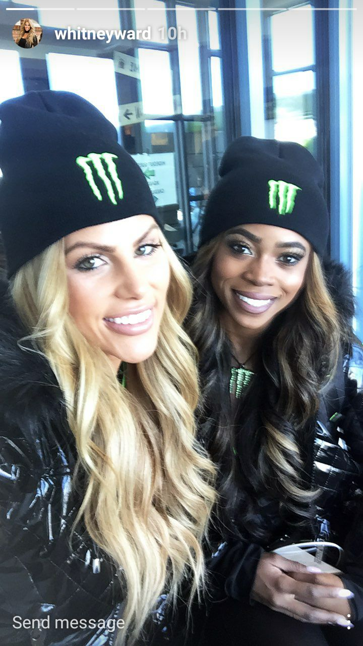 True friends, Mariel Lane and Whitney Ward.. #MONSTERENERYGY  #monsterenerygirls #NASCAR #NFL