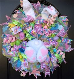 "Check out our brand new Bunny Booties! These cute little fury booties are handmade right here in North Carolina! They are available on our website and are ready to ship! Supplies are limited and they are selling like crazy, so order fast! Get ""Creative"" today! with Creative Gift Packaging Inc Wreath provided by Jennifer Boyd Designs"