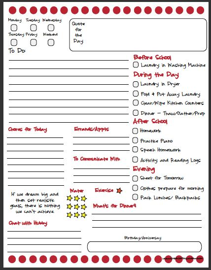 "Daily Routine Chart by one of my favorite bloggers, Kim Ross.  SHe writes for the Garanimals blog and has one of her own called ""A Little Bit of This & That, Adventures of a Stay at Home Mom""  http://networkedblogs.com/svc2E"
