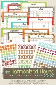 Organizing planner the harmonized house project