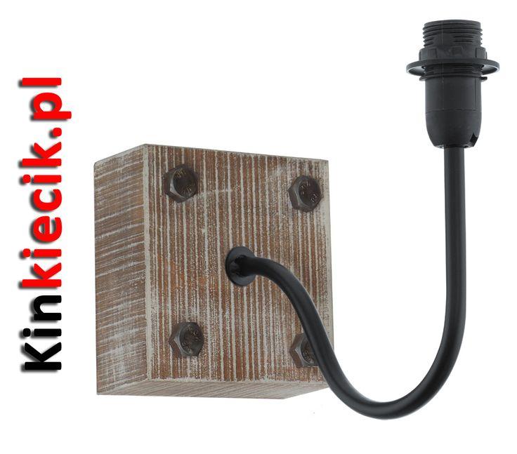 Podstawa do kinkietu serii Vintage 1+1 49326Materiał wykonania: drewno, stalKolor: czarny, brązWysokość: 18,5cmSzerokość: 12cmGłębokość: 21cmMocowanie na żarówkę: E14Do kinkietu zalecany jest abażur z serii Vintage 1+1 49436
