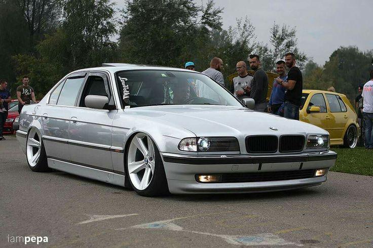 Bmw E38 7 Series Silver Slammed Euro Auto Style
