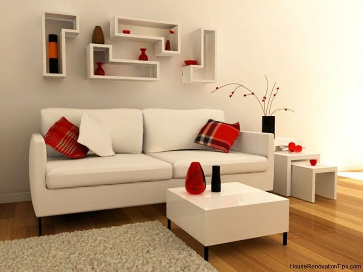 Minimalist Living | Modern Interior Living Room Minimalist White Red Part 93