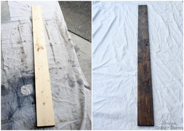 DIY Rustic Growth Chart - Design, Dining + Diapers