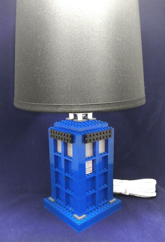 Doctor Who Tardis LEGO Lamp   Doctor Who Lamp / LEGO Lamp / LEGO Room Decor  / Lego Decor / Lego Themed Gift Part 84