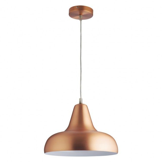 AERIAL Copper Brushed Metal Ceiling Light With White Interior Product Code: 336153 Colour: Copper with white interior Delivered within 3 days £45.00