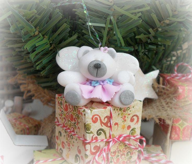 Handmade Christmas, Fairy Bear Hanger, Tree Decorations, Christmas Crafts,