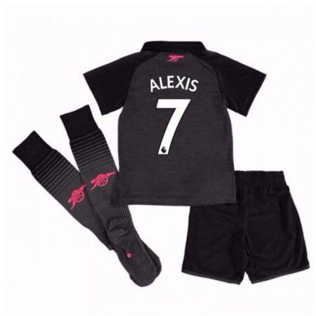 Arsenal Alexis Sanchez 7 Tredje trøje Børn 17-18 Kort ærmer #Billige Fodboldtrøjer