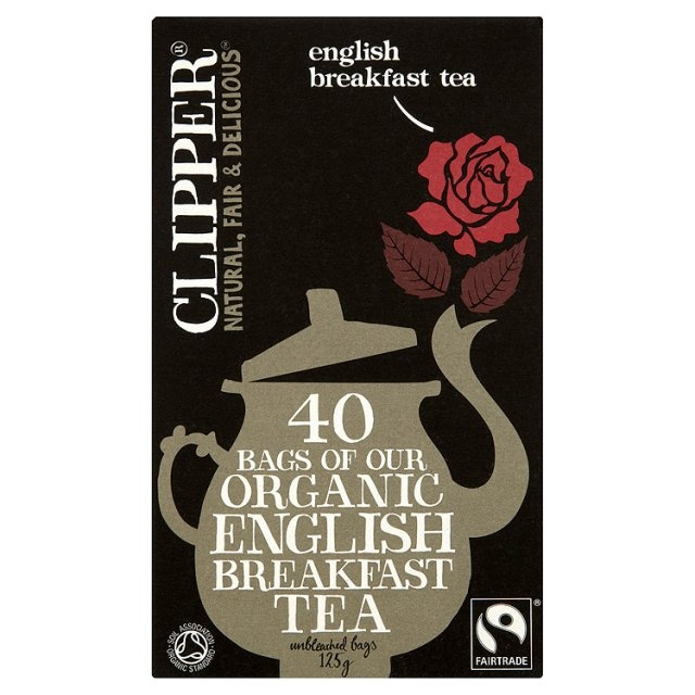 Ocado: Clipper Fairtrade Organic Speciality English Breakfast Tea Bags (Product Information)