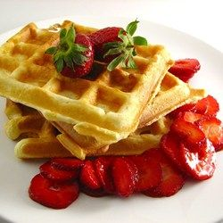 Classic Waffles - Allrecipes.com Used 5 T. Sugar and 1/2 C. Butter. Whip yolks and whites separately.