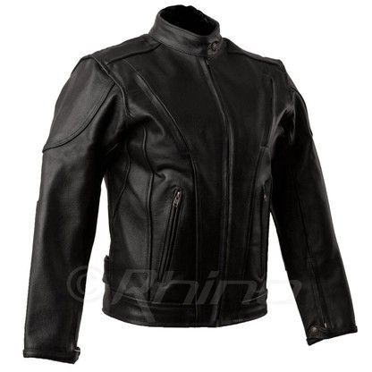 Womens Leather Motorcycle Jacket with vents and armour