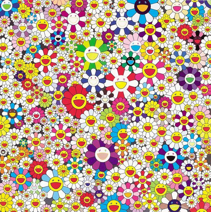 Takashi Murakami _ I'm feeling rainbowy today! D 배경화면