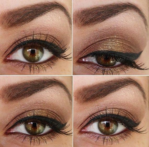 Brown smokey eyes. sans winged liner: Eye Makeup, Cat Eye, Brown Eye, Eyebrows Shape, Beautiful, Hazel Eye, Eyeshadows, Weights Loss, Brown Smokey Eye