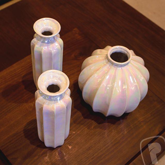 Jarrones de cer mica con acabado tornasol lifestyle - Jarrones de ceramica ...