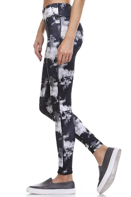 Smokeshow Tie Dye Leggings - Black + White