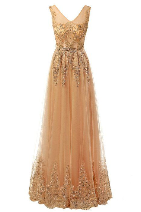Audrey Bride Chic Evening Gowns for Woman 2015 Formal Prom Dresses-4-Gold2