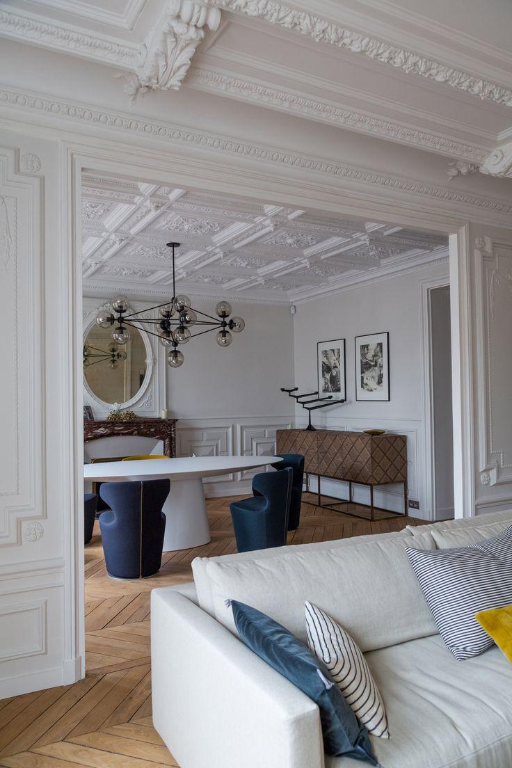 les 25 meilleures id es de la cat gorie haussmann sur pinterest salon paris boiseries et. Black Bedroom Furniture Sets. Home Design Ideas
