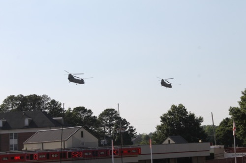 Military helicopters at Burgess-Snow Stadium.: Official Photoblog, Alabama Shared, Geek Alabama, Military Helicopters, Burgess Snow Stadiums, Lights Pixel, Traffic Lights