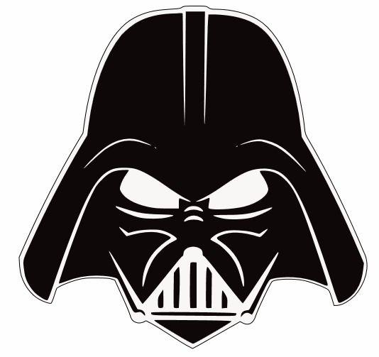 Darth Vader Head Silhouette Darth vader stencil i got
