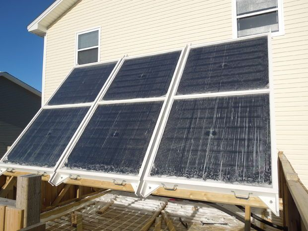 Picture of Hydronic Solar Thermal System for Winter Space Heating