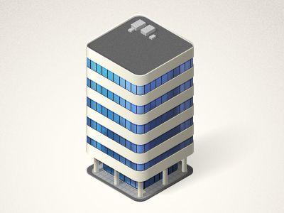 Dribbble - Vector building3 by Oleg Zherebin