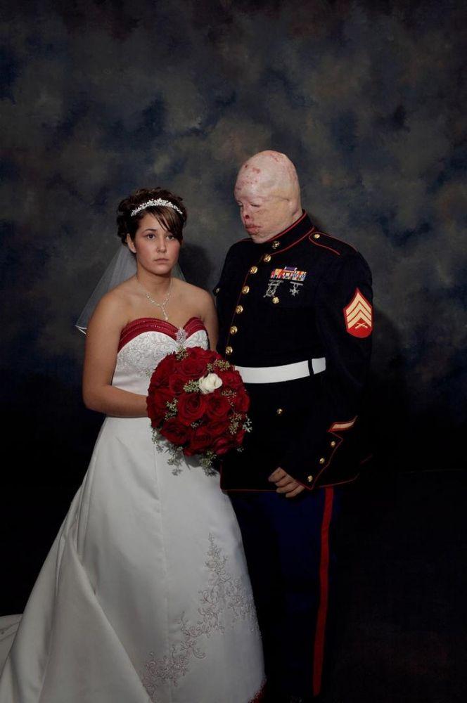 nina berman marine wedding