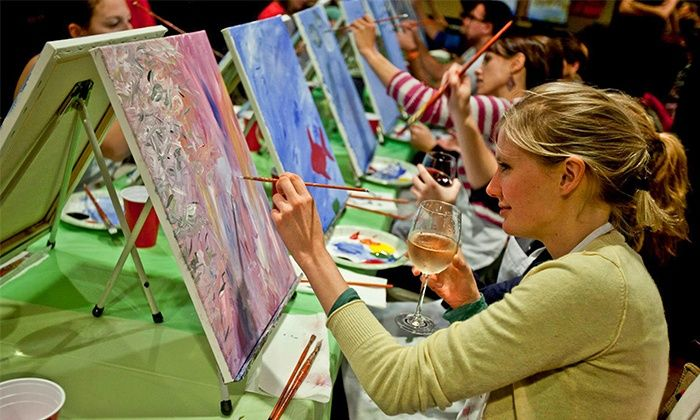 Paint Nite - Minneapolis / St Paul: Two-Hour Social Painting Event for One, Two, or Four from Paint Nite (Up to 46% Off)