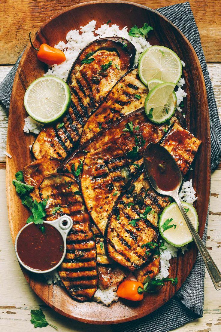 Spicy Jamaican jerk-spiced grilled eggplant! Ready in 30 minutes, incredibly flavorful, and the perfect plant-based side dish!
