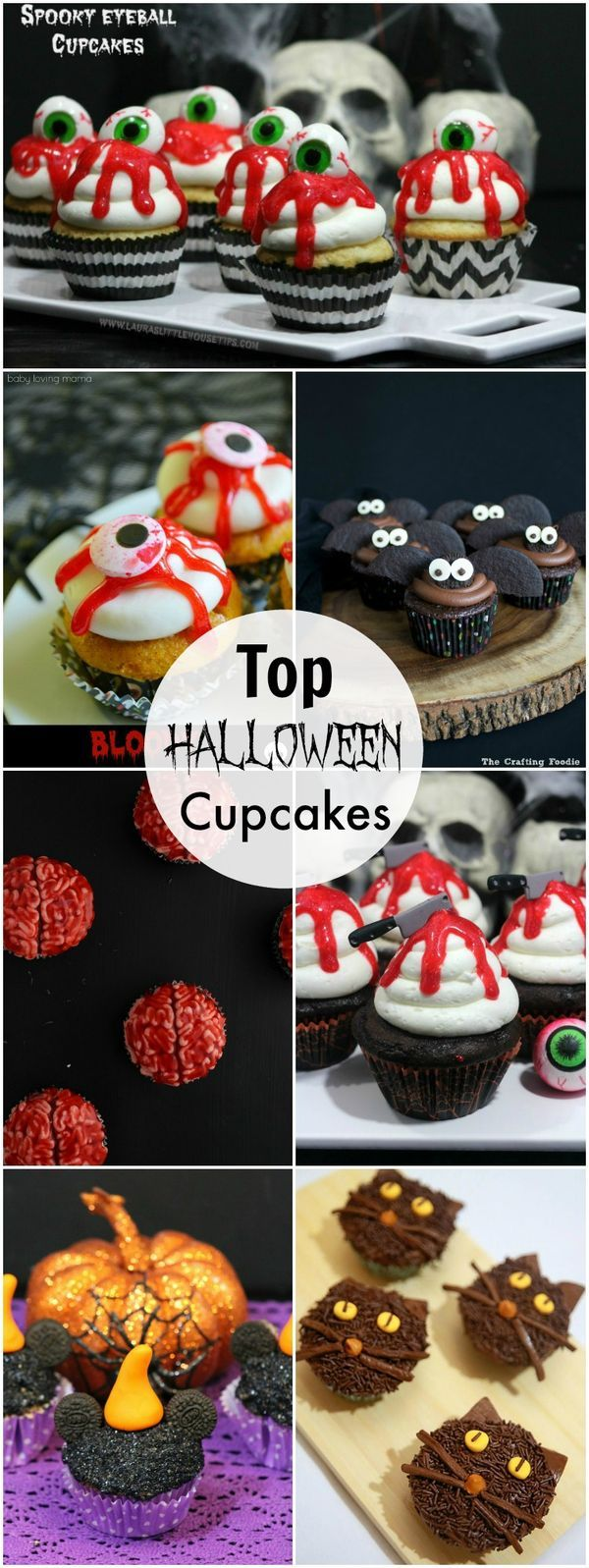 Top Halloween Cupcakes recipes that are the perfect cupcakes for any Halloween party.