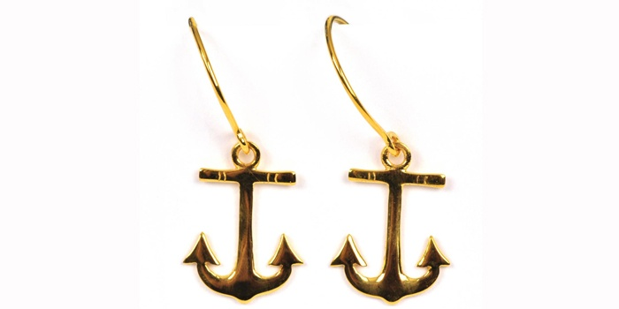 Anchor earrings from Syster P.