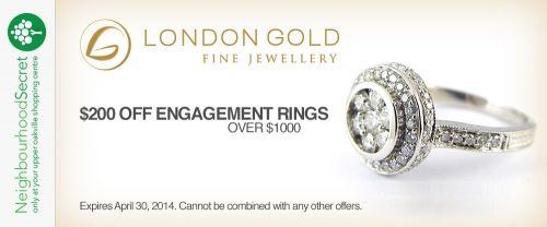 London Gold April offer, download your coupon at http://neighbourhoodsecret.net #Oakville #ShopLocal