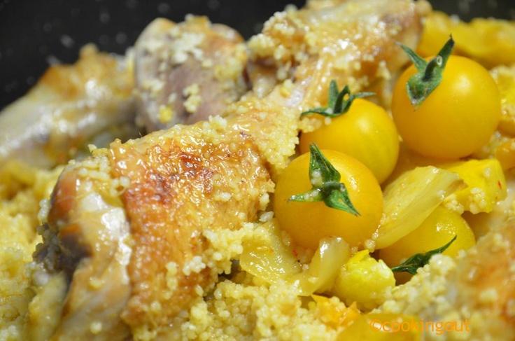 Poulet basquaise aux légumes ocre quand le BBQ fait défaut !