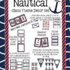 Included in this Nautical Themed Set are   Calendar set including 2 sizes of month  labels, 1 to 31 dates, and days of the week labels Word Wall Al...