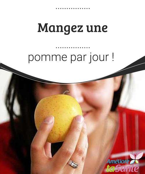 Mangez une pomme par jour   La pomme présente tellement de bienfaits qu'il serait dommage de s'en priver. Manger une pomme par jour est une excellente habitude à prendre.