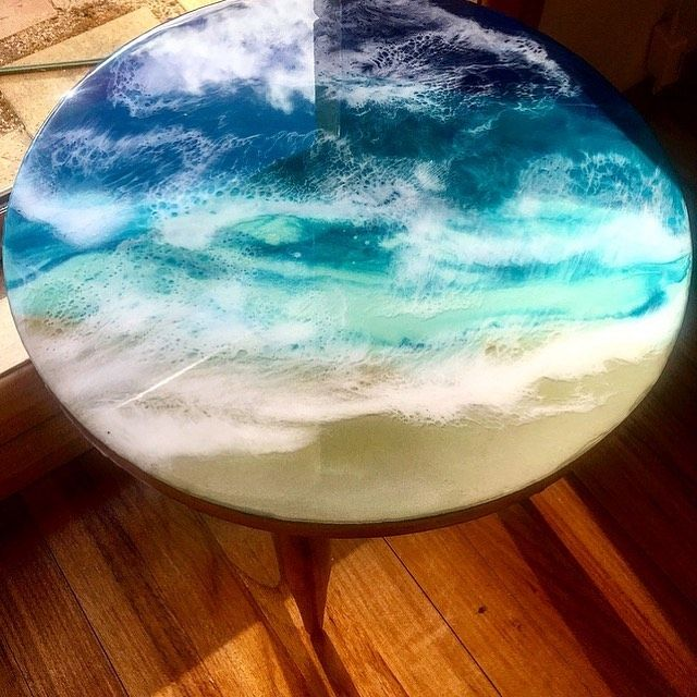 Beach Inspired Resin Coffee Table Coffeetabledecor Coffeetable