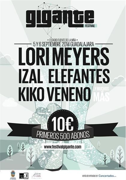 Lori Meyers, Izal, Kiko Veneno y Elefantes, entre las 14 bandas que actuarán en el Festival Gigante de Guadalajara