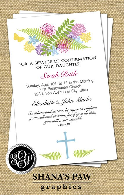 19 best Confirmation Invitations images on Pinterest | Card patterns ...