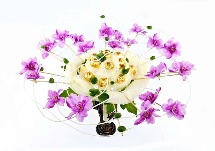 Oryginalny Bukiet z Cukierków Kwiaty