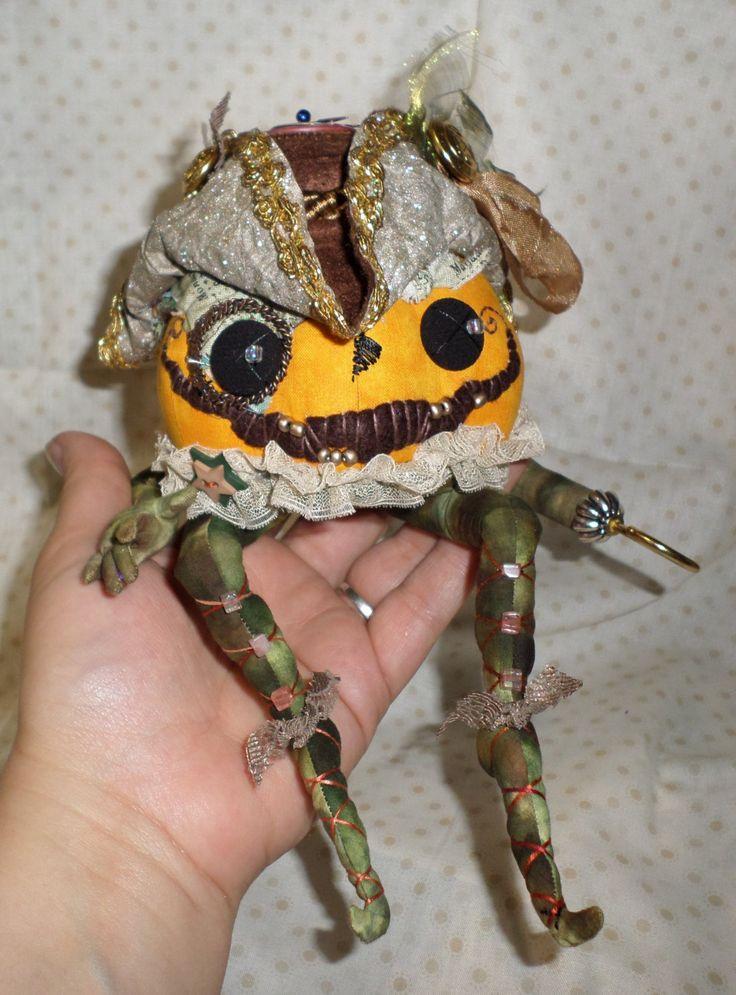 Admiral Phillip NorthStarryEyed Bompass OOAK Art Doll Halloween Pumpkin Steampunk Pirate Jack o Lantern - Paula McGee - paulasdollhouse by paulasdollhouse on Etsy