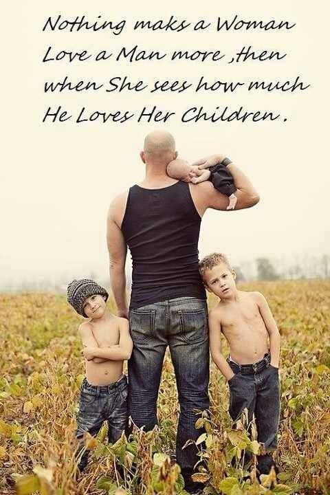 Cute dad/kids photo idea