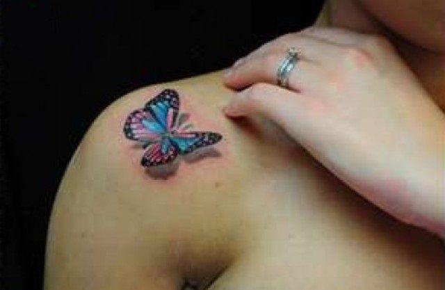 3d butterfly tattoos for women | 3D Tattoos Designs for Men and Women Butterfly 3D Tattoo for Women ...