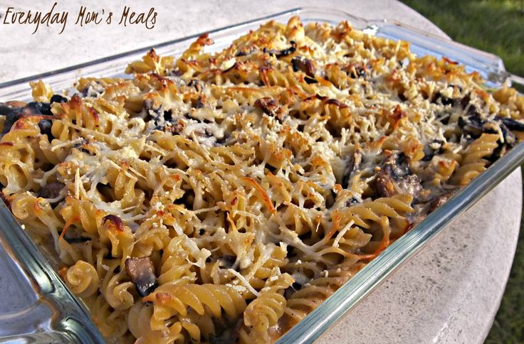 Portobello Mushroom Bake~ Combing the comfort foods of pasta and ...
