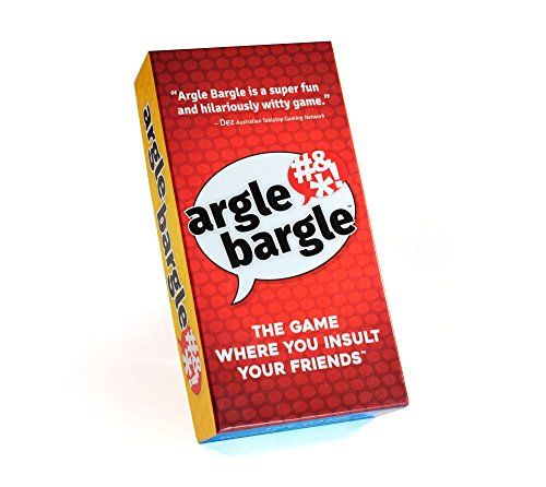 Argle Bargle: The Game Where You Insult Your Friends | Brand new hilarious family friendly card game in time for your holiday gatherings and party game nights. Teens 2-8 players <20 min