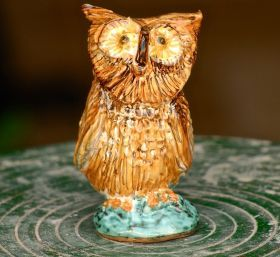 Owl - Apulian Whistle Whistle representing an owl. Made entirely with clay sculpted, molded and painted by hand, cooking in the oven at more than 1,000 degrees. #madeinitaly #artigianato