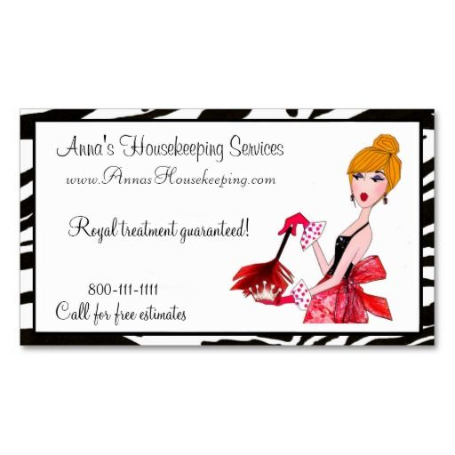 House Cleaning Diva Business Cards Maid Services
